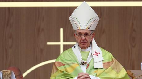Le pape François dirige la messe de clôture de la réunion mondiale des familles à Phoenix Park, Dublin, Irlande, le 26 août 2018 (image d'illustration).