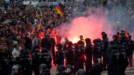 Manifestation à Chemnitz le 27 août 2018, photo ©Matthias Rietschel/Reuters