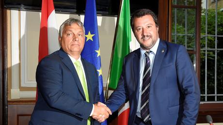 Viktor Orban et Matteo Salvini, main dans la main à Milan