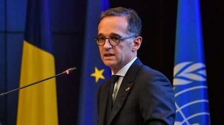 Heiko Maas, ministre des Affaires étrangères d'Allemagne, plaide pour un nouvel ordre mondial.Ici, le 27 août à une conférence diplomatique à Bucarest (Roumanie).