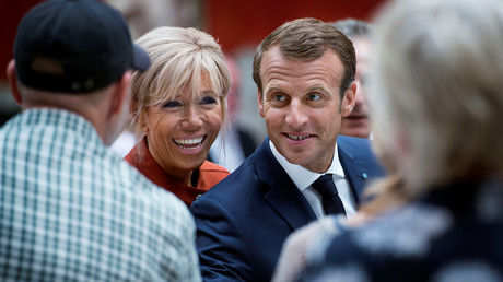Emmanuel Macron et son épouse Brigitte au Danemark le 29 août 2018.