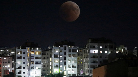 Eclipse lunaire le 27 juillet 2018 à Idlib (image d'illustration).