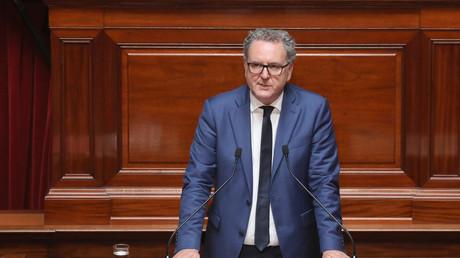 Le chef de file du groupe LREM à l'Assemblée nationale Richard Ferrand à Versailles en juillet 2018