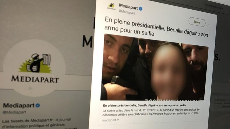 Pendant la présidentielle, Benalla posait avec son arme pour un selfie... sans port d'armes (PHOTO)