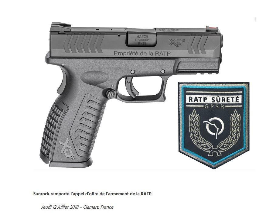 Découvrez l'arme semi-automatique bientôt à la disposition des agents de la RATP