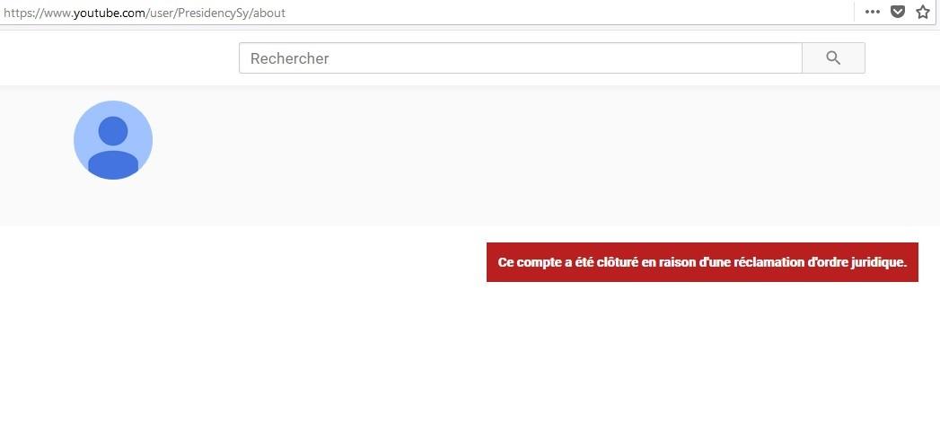 Syrie : YouTube ferme plusieurs chaînes d'Etat dont celles de la présidence et de la Défense