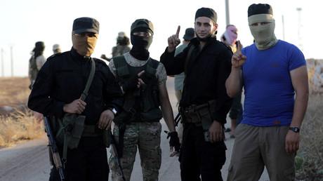 Des combattants du groupe Hayat Tahrir al-Cham dans la province d'Idleb, le 18 juillet 2018 (image d'illustration).