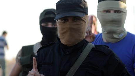 IllustratiOn : djihadistes du Hayat Tahrir al-Cham, émanation du Front al-Nosra
