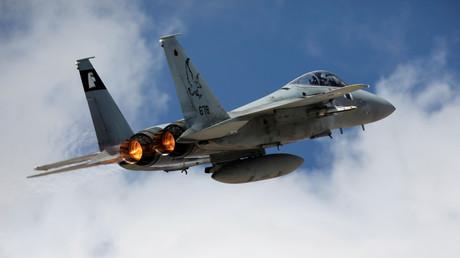 Un avion de combat israélien F15 en exercice, novembre 2017, illustration
