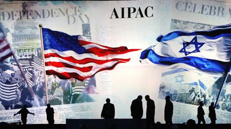 Préparatifs de la conférence politique du Comité américain des affaires publiques israéliennes (AIPAC) à Washington, le 2 mars 2015.