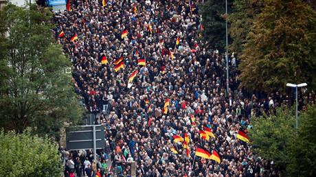 Manifestation à Chemnitz.