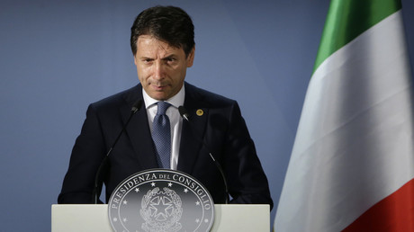Illustration : le président du Conseil italien Giuseppe Conte en juin 2018