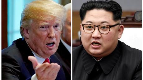 Montage photographique, Donald Trump, Kim Jong-un, illustration