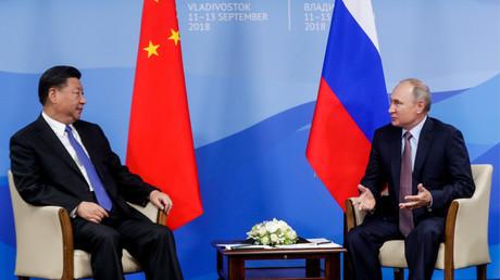 Les présidents russe et chinois le 11 septembre 2018 à Vladivostok.