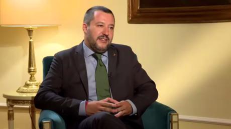 Le vice-président du Conseil italien et ministre de l'Intérieur Matteo Salvini, photo ©RT