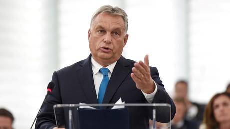 Viktor Orban s'adresse aux eurodéputés, le 11 septembre 2018.