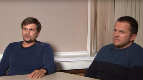Alexandre Petrov et Rouslan Bochirov, les deux hommes présentés par les services britanniques comme les suspects de l'affaire Skripal