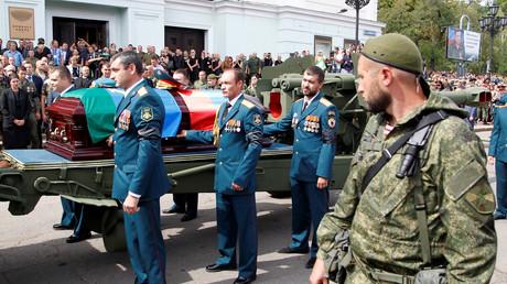Les funérailles d'Alexandre Zakharchenko ont eu lieu le 2 septembre à Donetsk