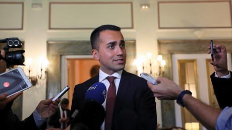 Le vice-Premier ministre Luigi Di Maio durant une conférence de presse au Caire en août 2018.