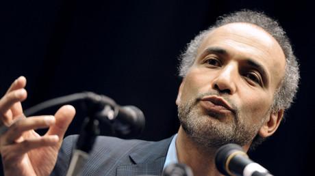 Tariq Ramadan lors d'une conférence en mars 2012 à Nanterre (image d'illustration).