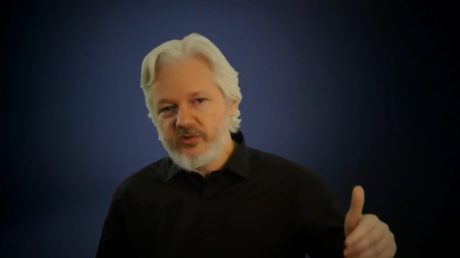 Julian Assange, capture d'écran. © RT/World Ethical Data Forum 2018