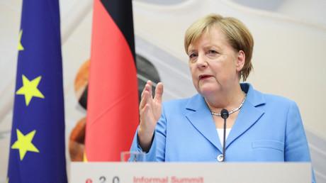 Angela Merkel au sommet informel des leaders européens à Salzbourg le 20 septembre 2018.
