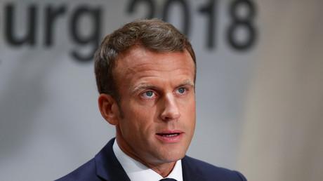 Le président français, Emmanuel Macron, le 20 septembre 2018 à Salzbourg en Autriche (image d'illustration).