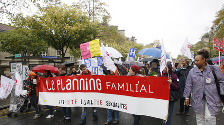 Manifestation en faveur du Planning familial (illustration).