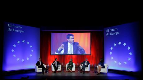 Manuel Valls lors d'un meeting de Ciudadanos à Barcelone, en décembre 2017 (image d'illustration).