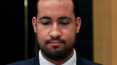 Alexandre Benalla lors de son audition par la commission d'enquête du Sénat.