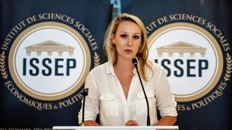 Marion Maréchal durant l'inauguration de l'Institut de Sciences Sociales Economiques et Politiques en juin 2018 à Lyon (image d'illustration).