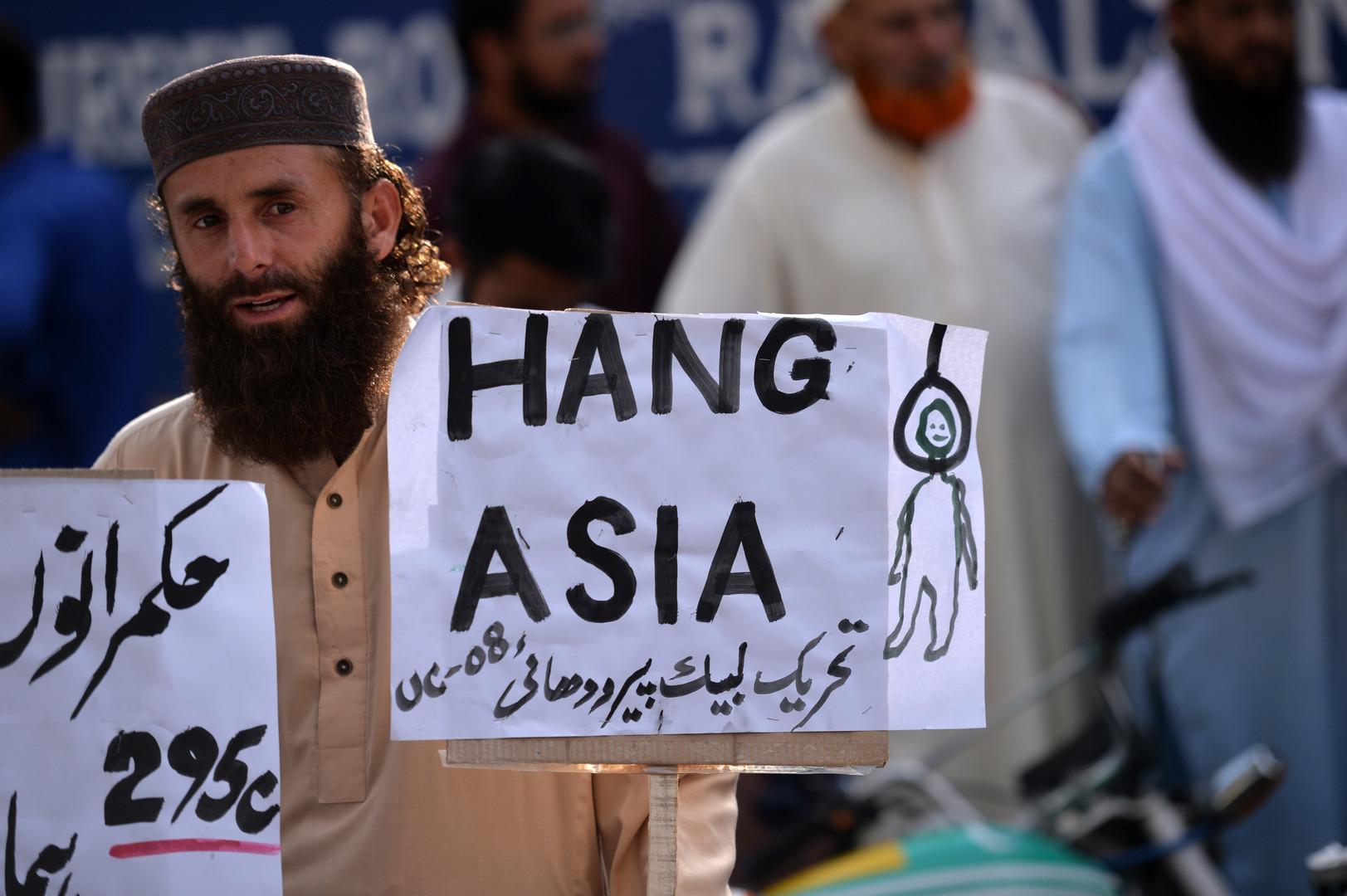 Des milliers de Pakistanais mobilisés pour exiger l'exécution d'une chrétienne accusée de blasphème