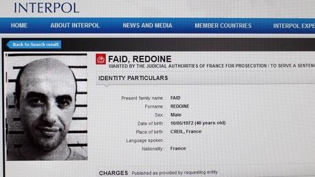 Rédoine Faïd, image d'Interpol.