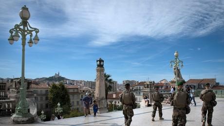Des militaires de l'opération Sentinelle gare Saint-Charles à Marseille (image d'illustration).