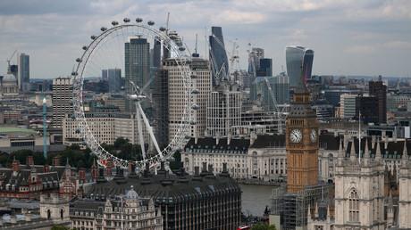 Vue aérienne de la ville de Londres.
