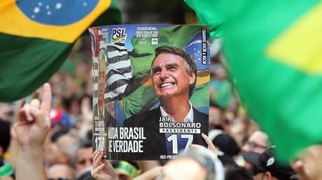 Partisans du candidat nationaliste Jair Bolsonaro, à Sao Paulo le 30 septembre 2018.