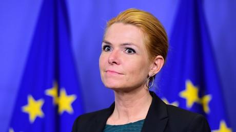 Inger Stojberg au parlement européen en 2016, illustration.