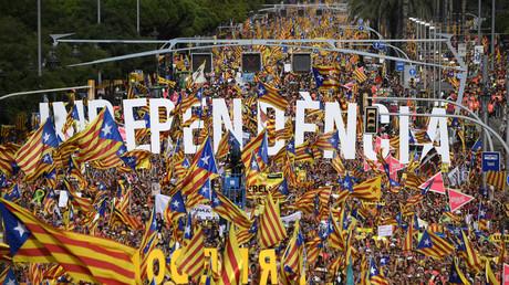 Manifestation des indépendantistes catalans, le 11 septembre 2018 à Barcelone.