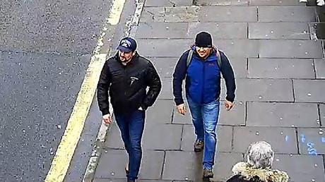 Alexandre Petrov et Rouslan Bochirov sur des images diffusées par Londres.