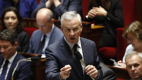 Le ministre français de l'Economie, Bruno Le Maire, s'exprime lors d'une séance de questions au gouvernement à l'Assemblée nationale française à Paris, le 10 octobre 2018.