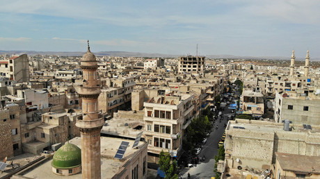 Vue aérienne de la ville d'Idleb en Syrie (image d'illustration).