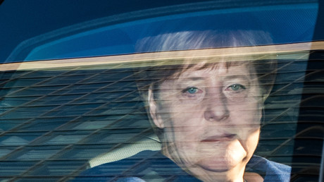 Angela Merkel arrive à un meeting de la CDU, le 15 octobre 2018 (image d'illustration).