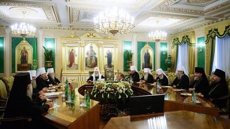 Réunion extraordinaire du Saint-Synode de l'Eglise orthodoxe russe à Moscou le 14 septembre 2018 (image d'illustration).