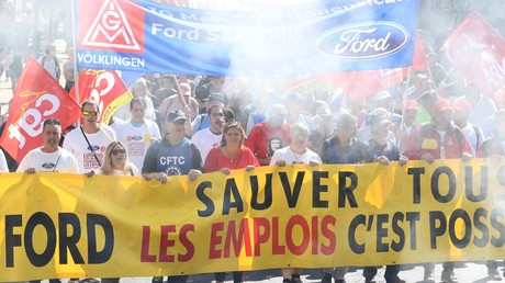 Manifestation à Bordeaux contre la fermeture de l'usine Ford de Blanquefort, le 22 septembre 2018 (image d'illustration).