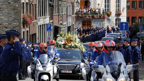 Les policiers belges rendent un dernier hommage à leur collègue assassiné dans le cadre de ses fonctions à Spa le 26 août 2018 (image d'illustration).
