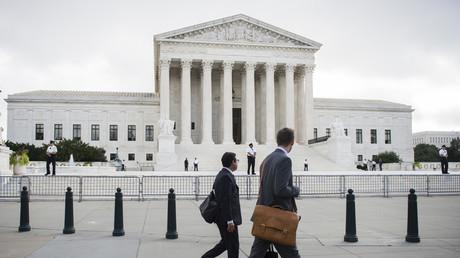 La Cour Suprême à Washington aux Etats-Unis.