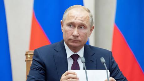 Le président russe, Vladimir Poutine, à Sotchi le 17 octobre 2018 (image d'illustration).