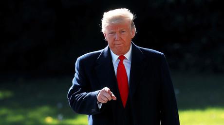 Donald Trump s'adresse aux journaliste lors d'une conférence tenue le 22 octobre à la Maison Blanche.