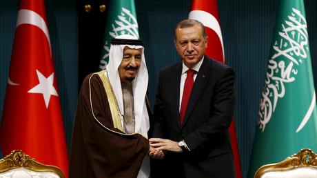 Erdogan et le roi d'Arabie saoudite (image d'illustration).