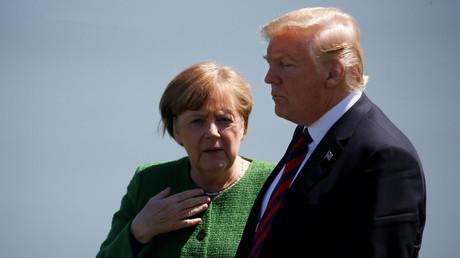 Angela Merkel et Donald Trump, lors du sommet du G7 à La Malbaie (Québec) au Canada, en juin 2018.